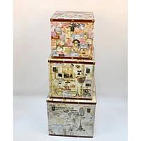 """Скриня дерев'яний для зберігання речей """"Taste"""" TL597, в наборі 3 штуки, скриня для декору, скриня для предметів"""