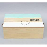 """Шкатулка деревянная для хранения мелочей """"Home"""" MX166, размер 10x30x20 см, шкатулка для мелких вещей, шкатулка под украшения, шкатулка из дерева"""