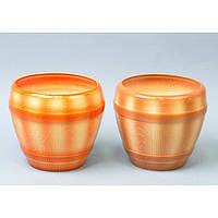 """Вазон керамический для цветов """"Бочка"""" VS/BC, средний, размер 17х10х16 см, 4 вида, вазон для комнатных растений, горшок для растений"""