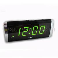 Часы сетевые VST 730-2 зеленые