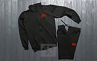 Спортивный костюм UFC черного цвета (люкс копия)