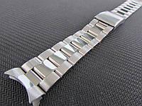 Браслет для часов из нержавеющей стали, литой, заокругленное окончание. 20-й размер.