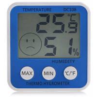 DC108 цифровой термометр с гигрометром Синий