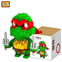 LOZ 210 шт M-9149 Черепашки-Ниндзя Рафаэль кубики Детская творческая игрушка Подарок для Мальчика / Девочки для развития воображения