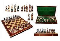 Шахматы с напылением SPARTAKUS Спартакус, Интарсия,  Арт. 3156