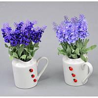 """Композиция цветочная для декора """"Love"""" SU1084, размер 21х10 см, с подставкой, 2 вида, декоративный цветок, искусственное растение"""
