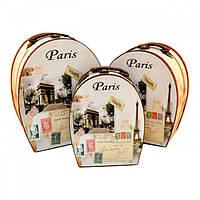 """Сундук деревянный для хранения вещей """"Paris"""" TL236, в наборе 3 штуки, сундук для декора, сундук для предметов"""