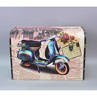 """Сундучок деревянный для хранения мелочей """"Moto"""" 910910-2, размер 42х61х34 см, сундук для украшений, шкатулка для вещей"""