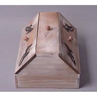 """Коробка деревянная для хранения обуви """"Shoes House"""" FF034, на 3 отделения, 15х10х22 см, коробка под обувь, коробка обувная из дерева"""
