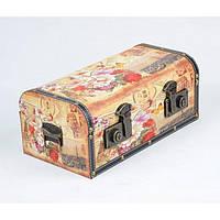 """Сундук деревянный для хранения вещей """"Old Fashion"""" TL1840, в наборе 3 штуки, сундук для декора, сундук для предметов"""
