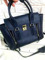 Женская сумка в стиле PHILLIP LIM MEDIUM PASHLI NAVY BLUE (6430), фото 1