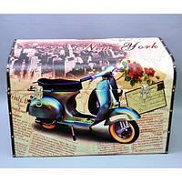 """Сундук деревянный для хранения вещей """"Moto"""" 910910, в наборе 3 штуки, сундук для декора, сундук для предметов"""