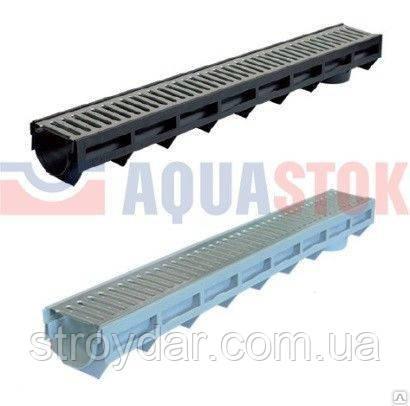 Лоток пластиковый в сборе с пластиковой решеткой 1000х135х100 AQUA-TOP