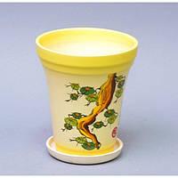 """Вазон керамический для цветов """"Факел №4"""" VS/F4, размер 12х14х7 см, вазон для комнатных растений, горшок для растений"""
