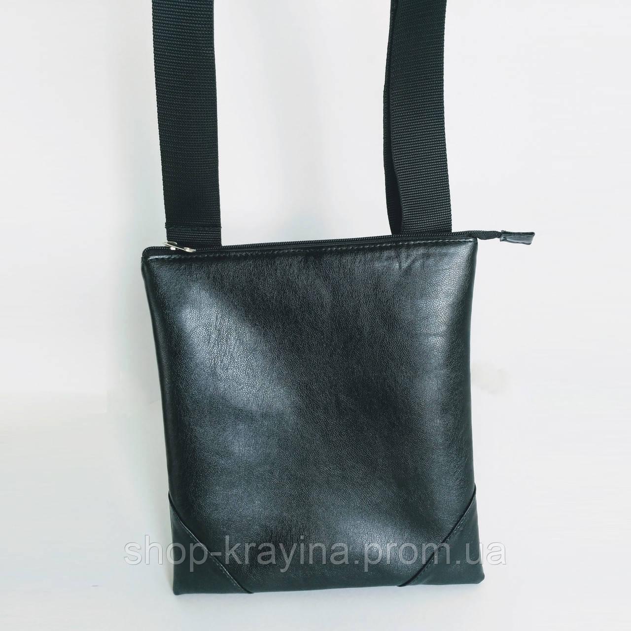 Сумка мужская Jak15, 27*24*6 см, черный, угол