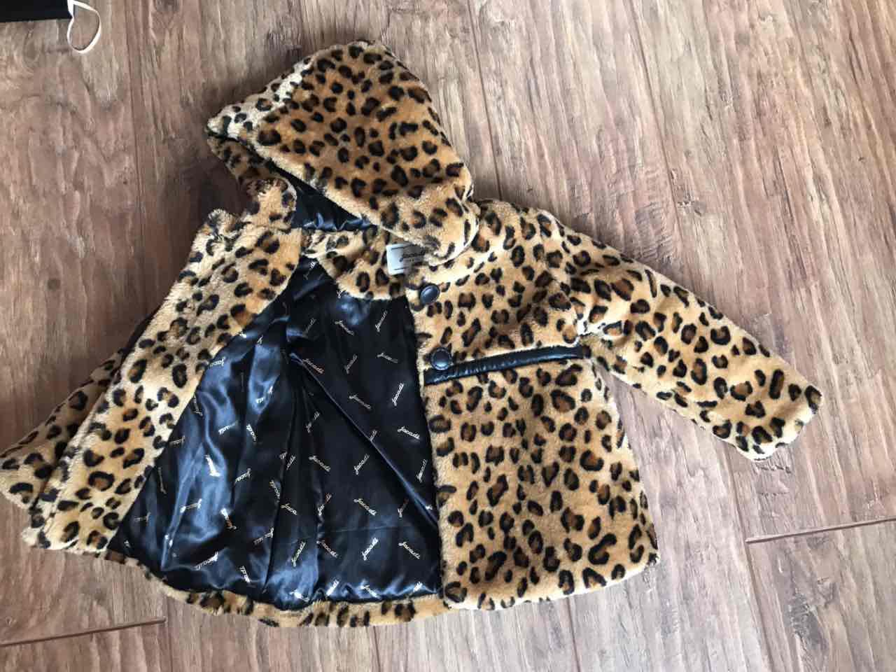 Стильная леопардовая шубка Jacadi б/у