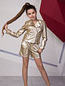 Супермодный подростковый комплект: косуха+ шорты Размеры 134- 158, фото 4