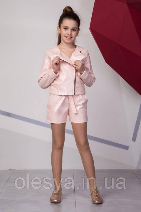 Супермодный подростковый комплект: косуха+ шорты Размеры 134- 158