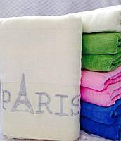 Банные велюровые полотенца с вышитым узором Paris
