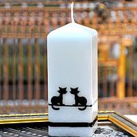 """Свеча свадебная для праздника """"Koty"""" S579, в форме квадрата, размер 50х150 мм, свадебные аксессуары, декор для свадьбы, аксессуары для свадьбы"""