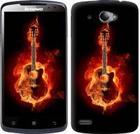 """Чехол на Lenovo S920 Горящая гитара """"183c-53-10409"""""""