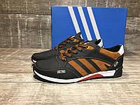 Кроссовки мужские кожаные Adidas zx750, код 50 рыжие  40