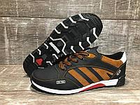 Кроссовки мужские кожаные Adidas zx750, код 50 рыжие