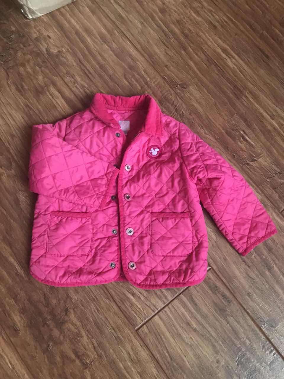 Стеганная розовая курточка для девочки chicco Б/у
