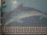 Мозаика стеклянная , керамическая мозаика , бордюр , фриз , панно из мозаики , китайская мозаика