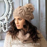 двойка (шапка+шарф) 350грн цвет-графит(т.серый)