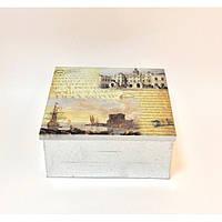 """Шкатулка металлическая для хранения мелочей """"Wonderland"""" FF50-2, шкатулка под бижутерию, шкатулка из металла"""