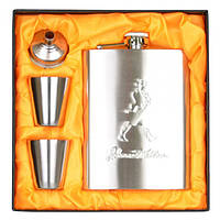 """Набор подарочный для мужчины """"Silver"""" GH083, в комплекте 4 предмета, металл, в коробке, фляга-подарок, фляга металлическая"""