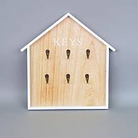 "Ключница настенная для ключей ""Our Little House"" PR347, материал MDF, 34х32 см, ящик для ключей, сейф для ключей, шкафчик для ключей"