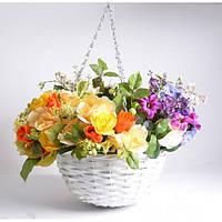 """Комплект вазонов для цветов """"Romantic"""" 12-8871, подвесные, в наборе 3 шт, лоза, вазон для комнатных растений, горшок для растений"""