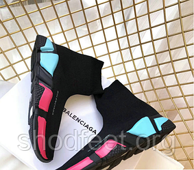 Женские кроссовки Balenciaga Multicolour Knit Sock Speed Trainers