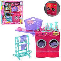 Мебель для куклы Ванная комната прачечная, стиральная машина, аксессуары, JX600-44