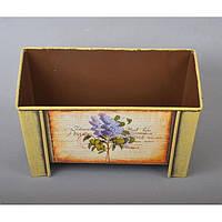 "Вазон - кашпо для цветов ""Flower"" YW642, металл, размер 12х20х14 см, 2 вида, вазон для комнатных растений, горшок для растений"