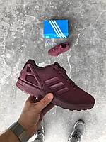 Женские кроссовки Adidas ZX Flux Maroon