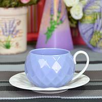 """Чашка порцелянова для напоїв """"Luxury L"""" FR224, розмір 6х6.5 см, з блюдцями, 12 предметів, чашка для чаю, посуд для чаю"""