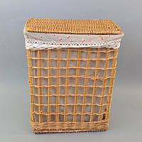 Бельевая корзина 9-0128-2, размер - 46*38*26 см, корзина для белья, бельевые корзины, плетеная корзина
