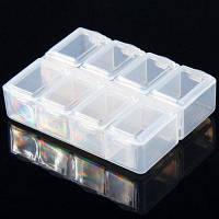 8 сетки Белый прозрачный пластиковый блок компонентов Белый