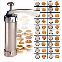 Пресс для изготовления печенья машина для печенья изготовитель тортов 20 форм 4 форсунки / кухонные варочные инструменты Серебристый
