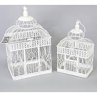 """Клетка подвесная для дома """"Bird"""" HX288, в комплекте 2 штуки, металл, декор для сада, декорирование сада, аксессуары для сада"""