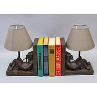 """Торшер - підставка для книг """"Intelligence"""" A3640, розмір 19.5х17х30 см, в комплекті 2 штуки, підставка під книги, настільний світильник"""