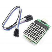 MAX7219 Новый модуль матричной матрицы Red Dot поддерживает общий катодный привод для Arduino с 5-Дюпонными линиями Синий