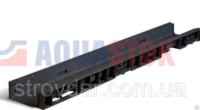 Лоток водоотводный Normal Plastik DN100 H55 1000x148x55