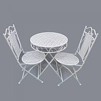 "Комплект мебели для кухни ""Tender"" HX8000, металл, стол 74х70 см, 2 стула 94х40 см, стол со стульями, комплект обеденной мебели, маленький стол"