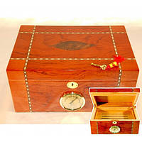 Хьюмидор для хранения сигар 9E30, 34.5*24.5*16 см, дерево под лак, Аксессуары для курения, Деревянный хьюмидор, Шкатулка для сигар