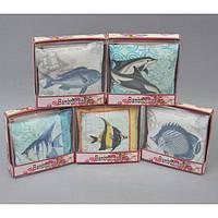 """Саше ароматическое для белья """"Fish"""" SH285, размер 14х14 см, 10 видов, в подарочной упаковке, саше для шкафа, арома саше"""