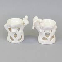 "Аромолампа для эфирных масел ""Птичка"" CY601, керамика, 9х11х7 см, в коробке, аромалампа, аромо-лампа, аромо лампа для релакса"